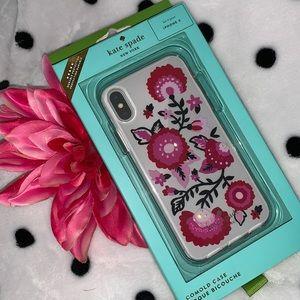 NWT! Kate Spade Jeweled Garland iPhone X Case